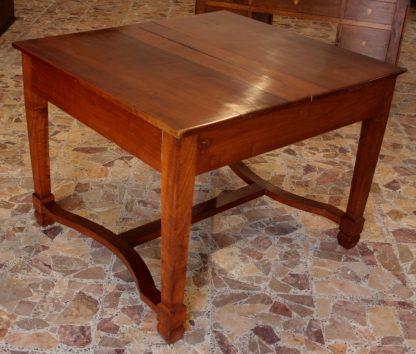 Mesa de cerezo macizo extensible antiguo sólido, 1920, sur de Italia