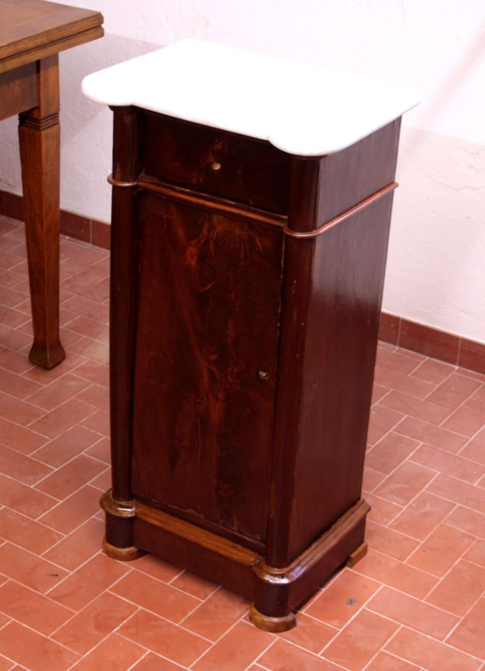 Walnut Louis Philippe nightstand restoration