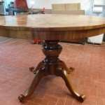 Oval table walnut