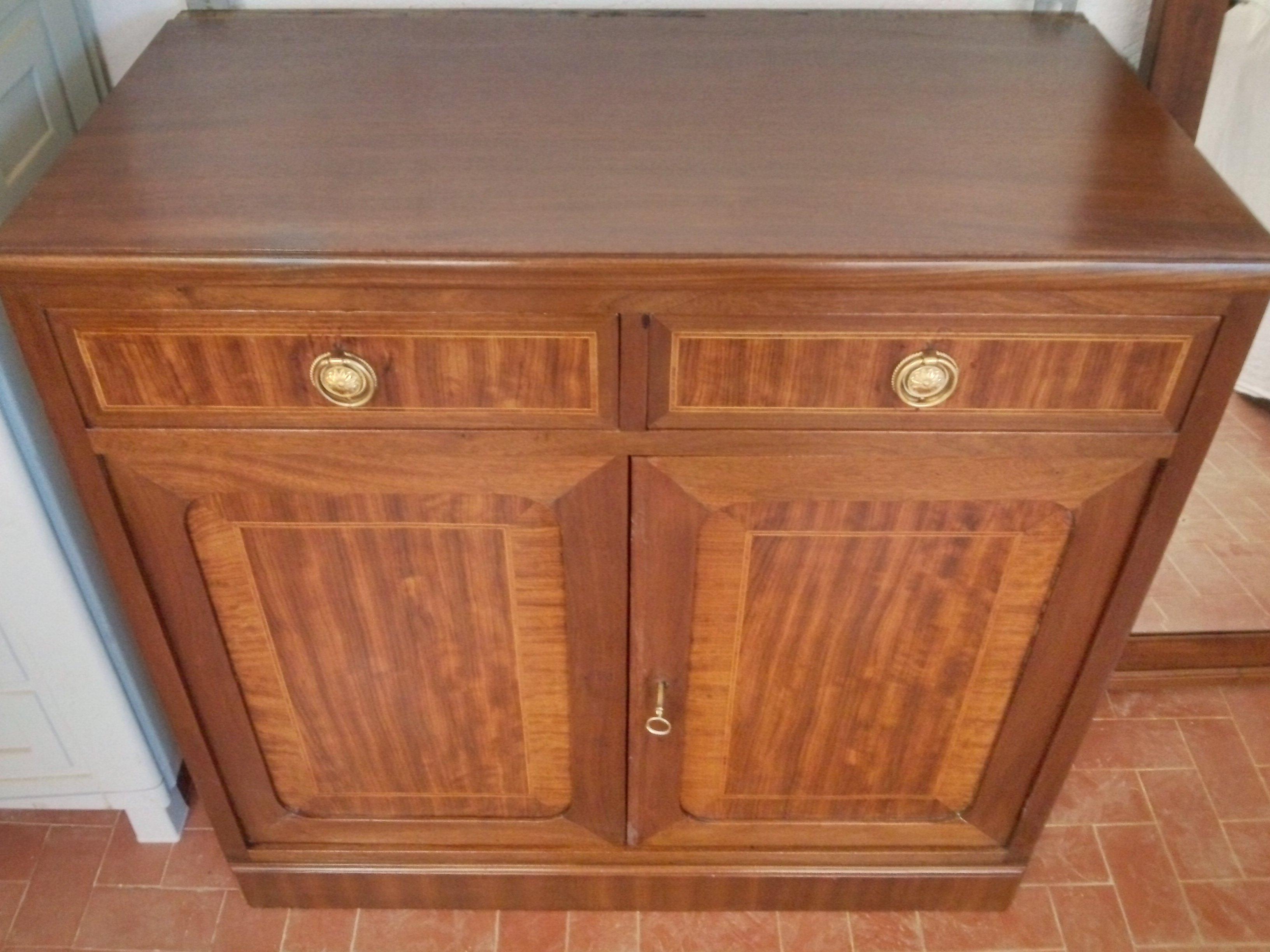 Walnut sideboard neoclassical