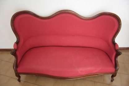 Walnut Red Sofa 1830
