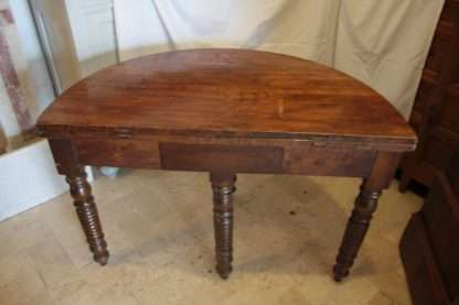 Oval antique walnut table