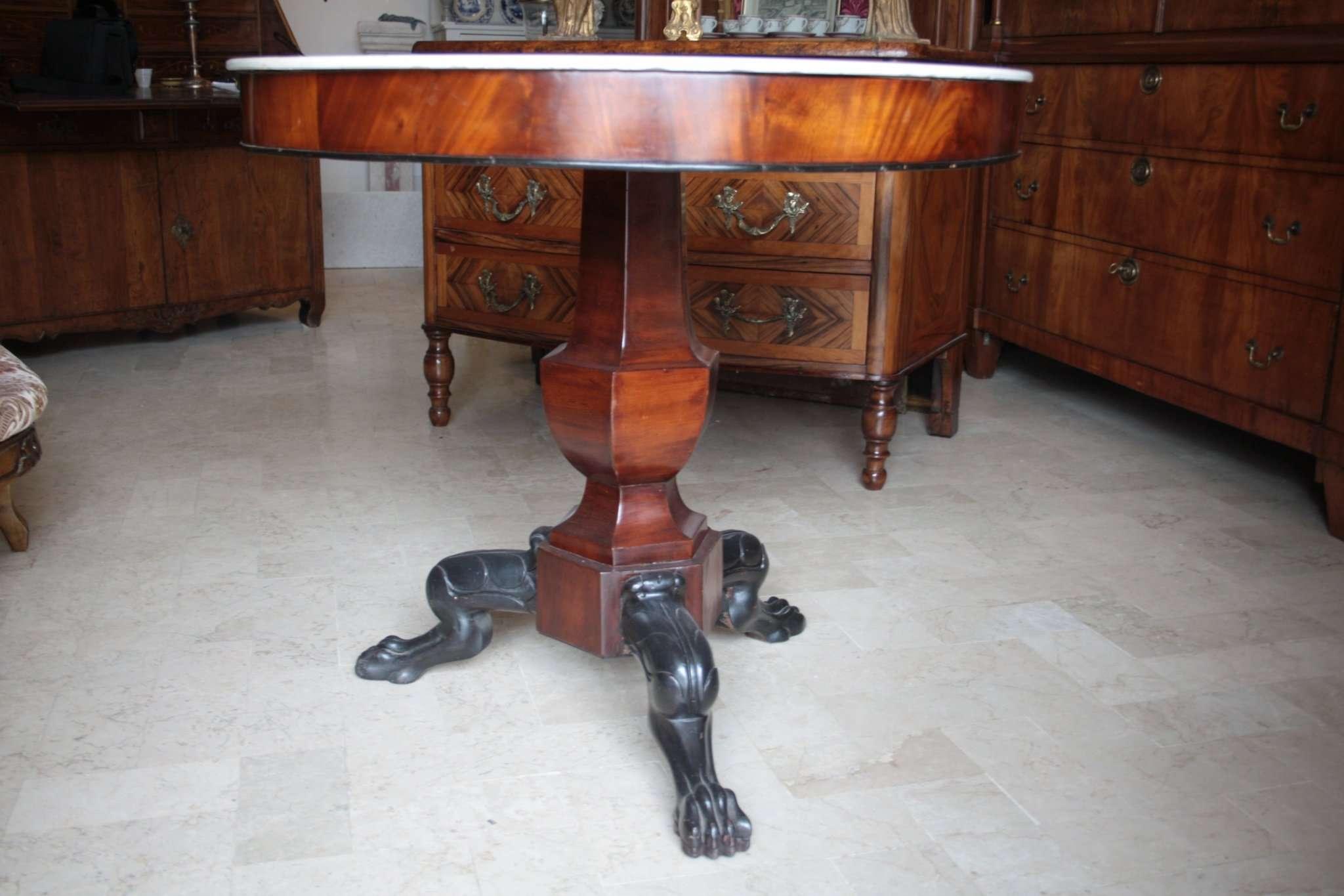 Empire mahogany table