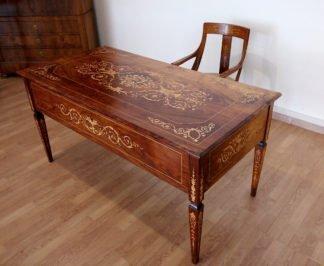 Escritorio y silla italianos Luis XV, 1920