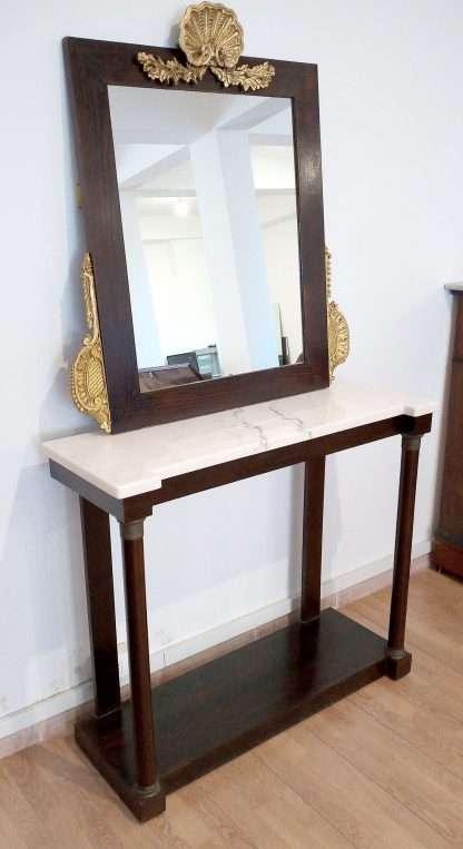 Consola con espejo estilo clásico italiano vintage