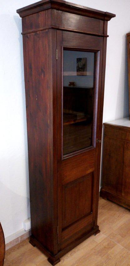 Librería vitrina clásica en caoba italiana